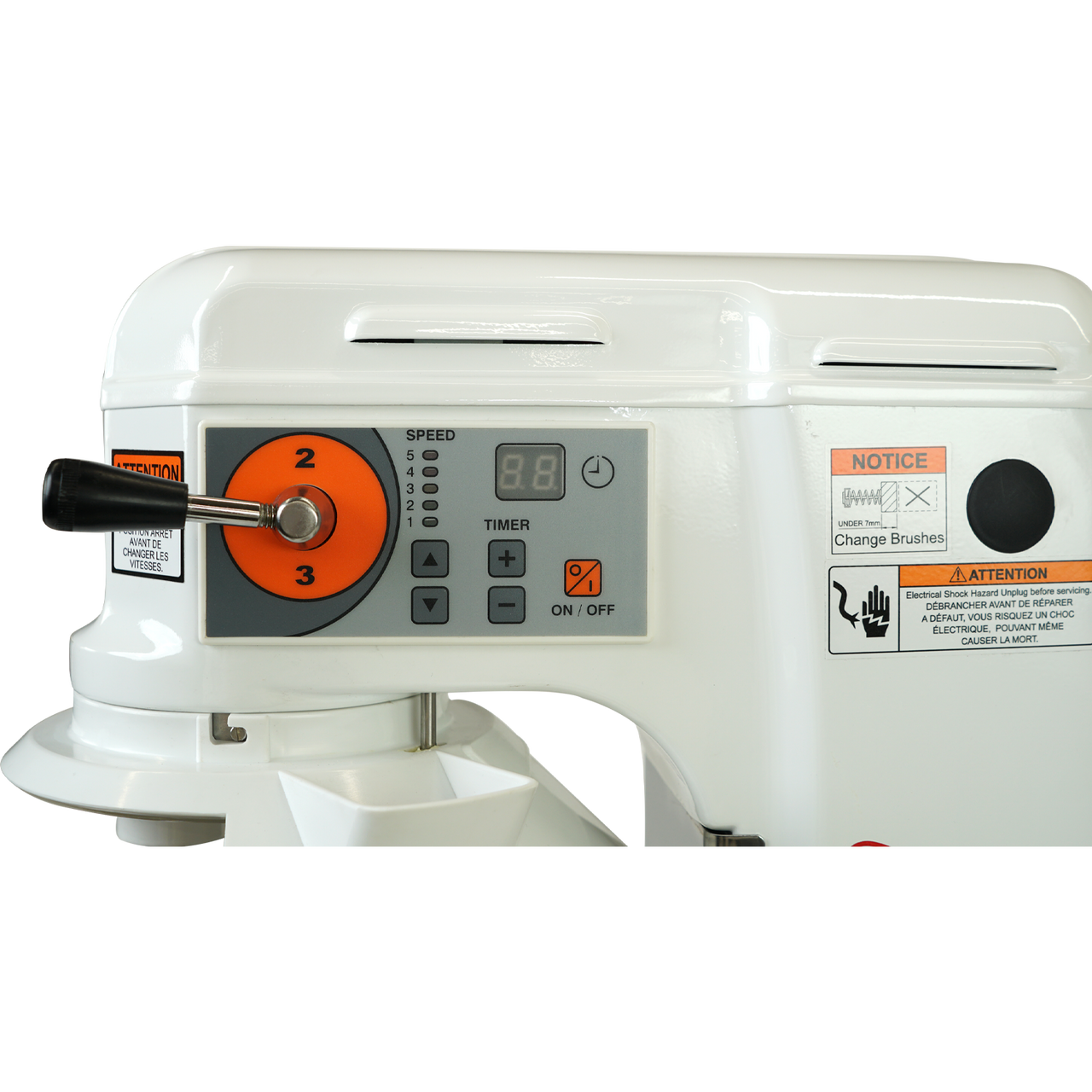 Control Panel, AE-10DCA 10 Quart Countertop Planetary Mixer, Commercial Mixer