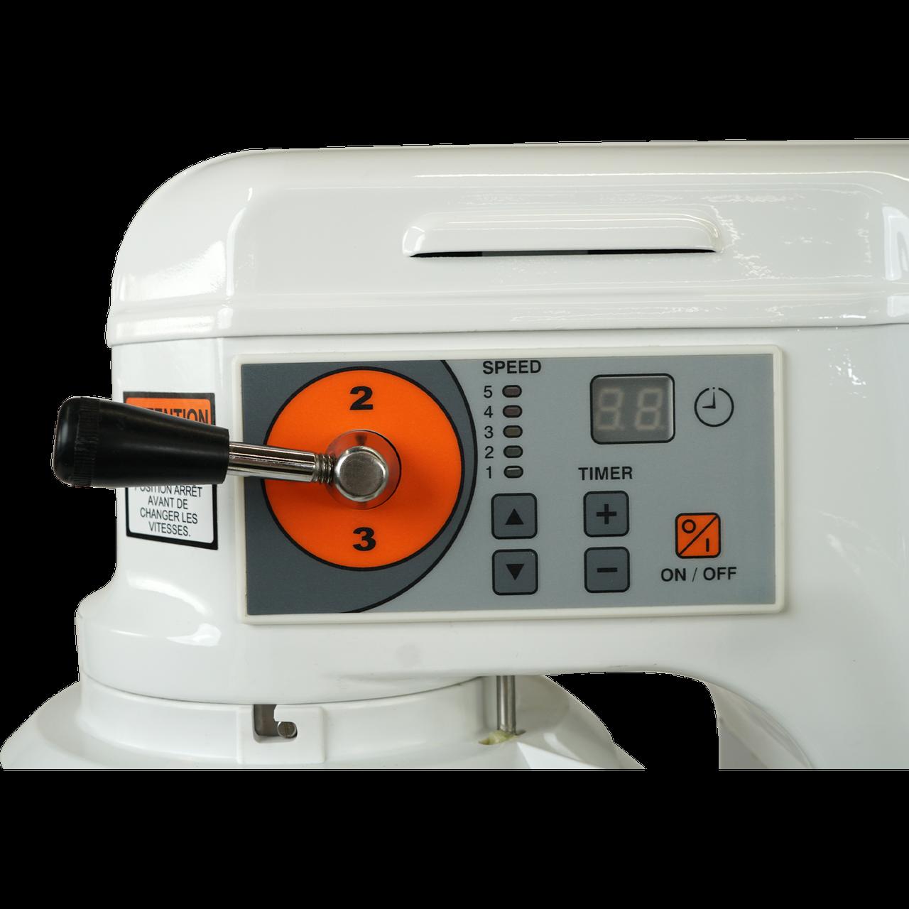 Gear Shift Lever, Digital Timer, Speed Control, AE-10DCA 10 Quart Countertop Planetary Mixer, Commercial Mixer