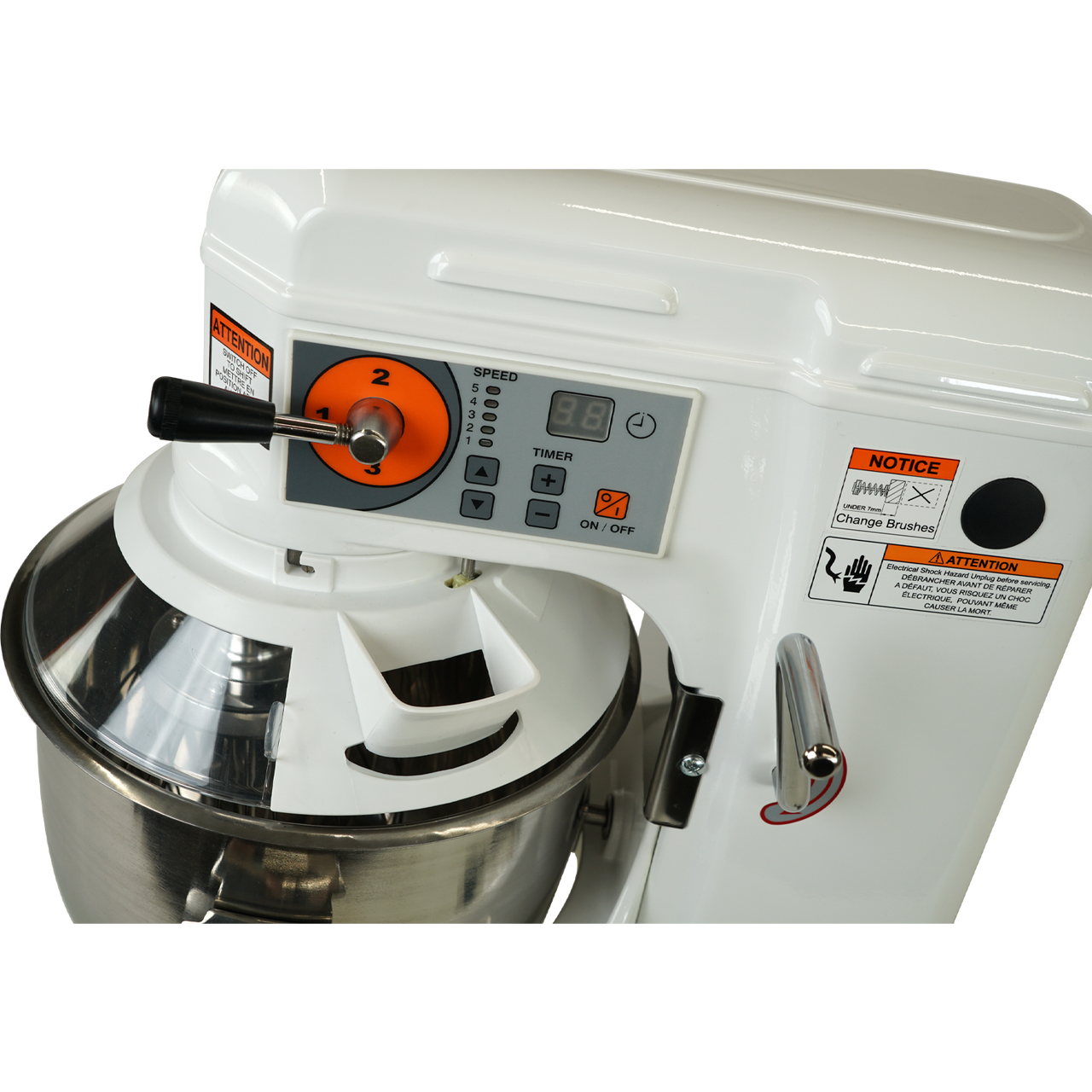 Pour Chute, AE-10DCA 10 Quart Countertop Planetary Mixer, Commercial Mixer