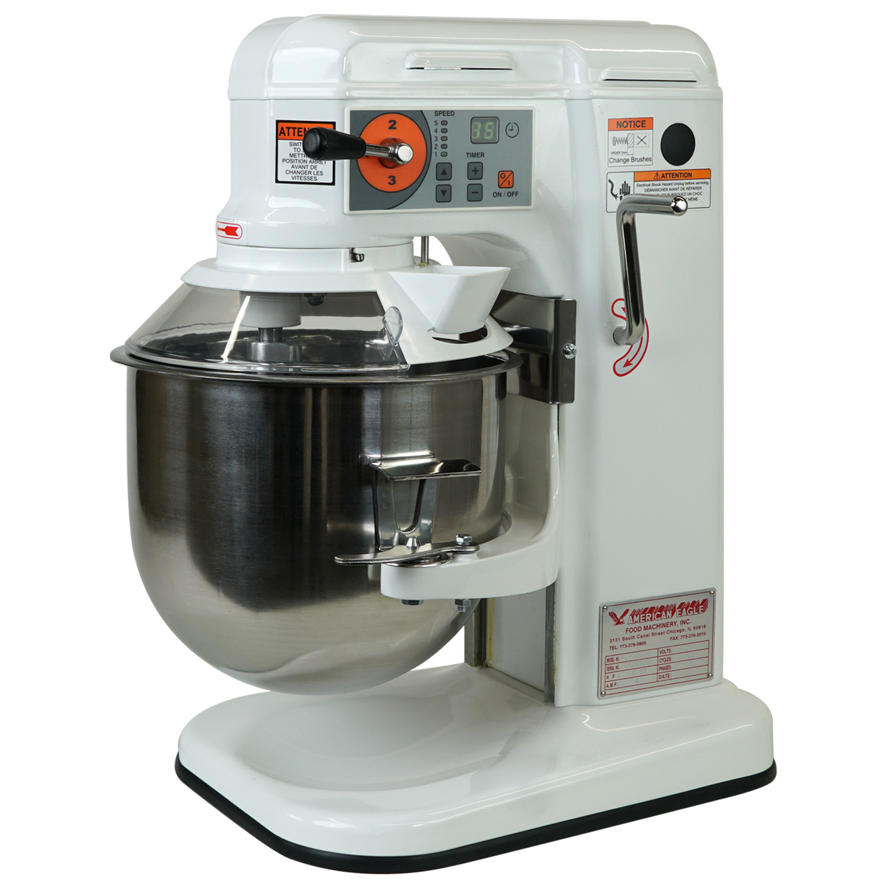 Isometric Main, AE-10DCA 10 Quart Countertop Planetary Mixer, Commercial Mixer