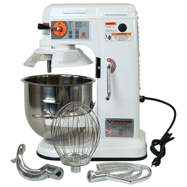 Full Accessory Set With AE-10DCA 10 Quart Countertop Planetary Mixer, Commercial Mixer