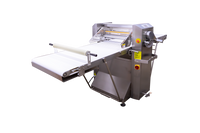 """AE-DS650B-SS Premium Series All Stainless Steel Dough Sheeter Floor Type w/Removable Tables w/ Digital Gauge 25.5"""" W x 124""""L, 220V/1Ph"""