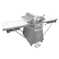 """AE-DS52-SS 1/2HP Stainless Steel Dough Sheeter Floor Type 20.5""""W x 82.75""""L, 220V/1Ph REFURBISHED"""
