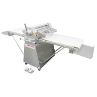 """American Eagle Food Machinery Stainless Steel Commercial Dough Sheeter, Floor Type 25.5""""W x 98.5""""L, 220V/1Ph/1HP, AE-DS65-SS"""