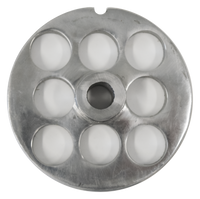 American Eagle Food Machinery #22 Meat Grinder Plate, 18mm, 11/16 inch, AE-G22N/06-18