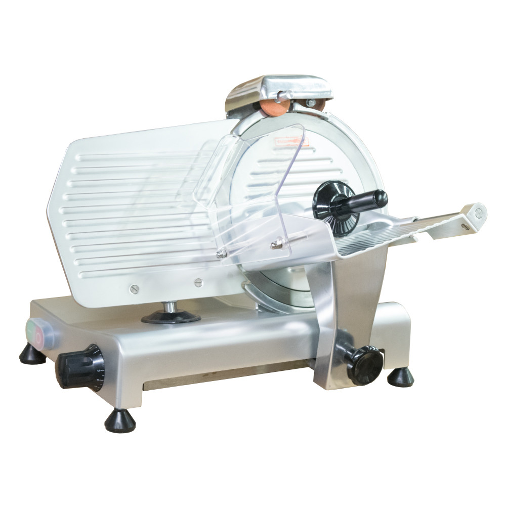 """American Eagle Machine 10"""" Commercial Meat Slicer, 1/2HP, AE-MS10 - Tray Forward"""