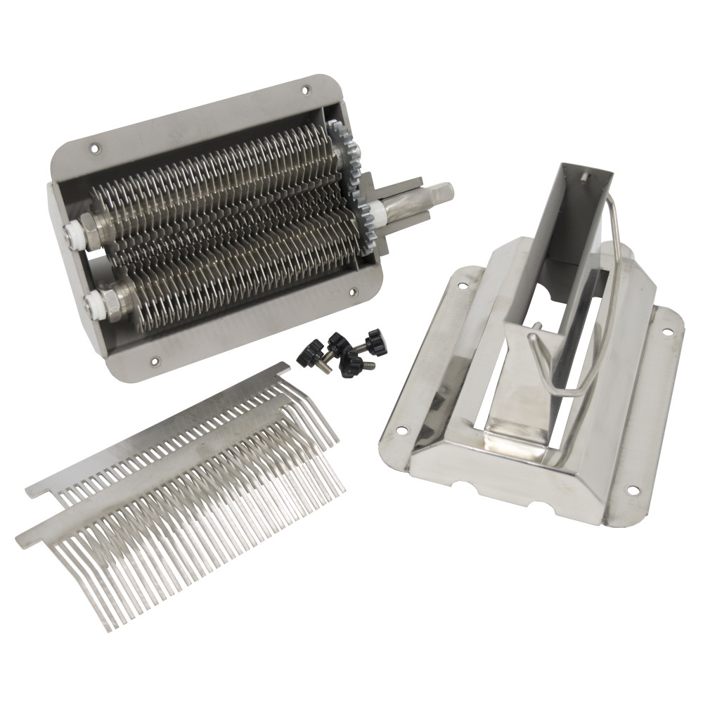 American Eagle Food Machinery Commercial Meat Tenderizer and Jerky Slicer Attachment, #12 Hub, Stainless Steel, AE-TS12H - Disassembled