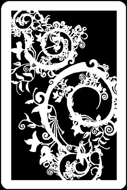 "6"" x 9"" -  Gothic Swirl Stencil/Mask A Colorful Life"