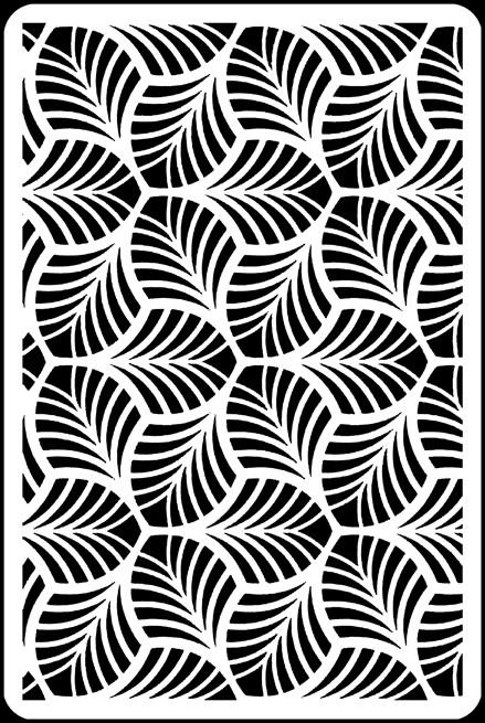 "6"" x 9"" - Interlocking Leaves Stencil A Colorful Life"