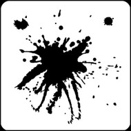 "6"" x 6"" -  Big Blots Stencil A Colorful Life"