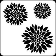 "6"" x 6"" -  Zinnia Set Stencil A Colorful Life"