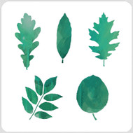 Leaf Set 2 Stencil
