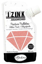 Rose Poudre (Powdery Pink) Aladine IZINK Diamond  Glitter Paint