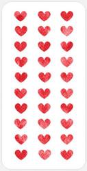 Hearts (3 x 6) Stencil