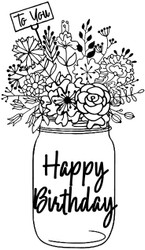 SD972 Birthday Mason Jar