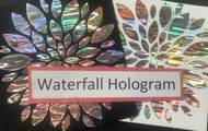 Waterfall Hologram Heat Transfer Foil