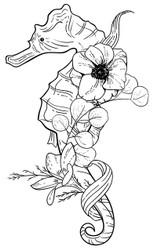 Floral Seahorse