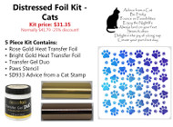 Distressed Foil Kit - Cats