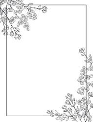 Floral Card Frame