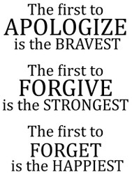 The First to Apologize
