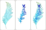 Layered Feather Stencil