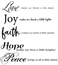 Love, Faith and Peace Set of 10
