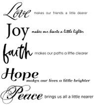 Love, Faith and Peace Set of 10