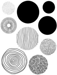 Modern Circles, Set of 9