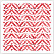 Patriotic Bunting Stencil