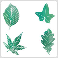 Bold Leaves Stencil