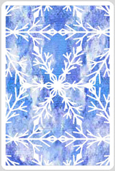 Ice Crystals Stencil