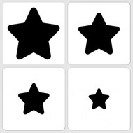 Marvelous Masks Stars Stencils, Set of 8