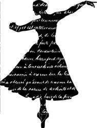 French Script Ballerina