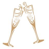 Champagne Flutes Stencil