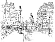 Paris Winter Watercolors