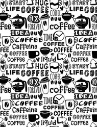 Whimsical Coffee Background