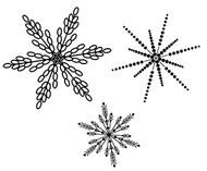 Small Snowflake Trio