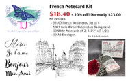 French Notecard Kit