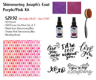 Shimmering Joseph's Coat Kit - Purple-Pink