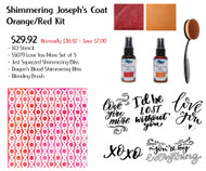 Shimmering Joseph's Coat Kit - Red-Orange