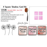 4 Square Shadow Stencil Ink Blending Kit