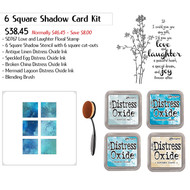 6 Square Shadow Stencil Ink Blending Kit