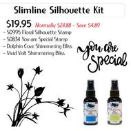 Shimmering Slimline Silhouette Kit