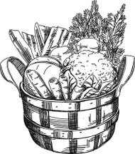 Garden Vegetable Basket
