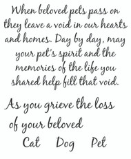 Loss of a Beloved Pet, Set of 5