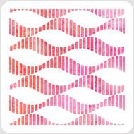 Striped Waves Stencil