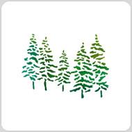 Snowy Trees Stencil