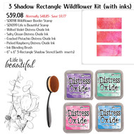 3 Shadow Rectangle Wildflower Kit with Ink