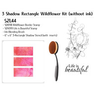 3 Shadow Rectangle Wildflower Kit without Ink