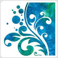 Split Bubbly Flourish Stencil